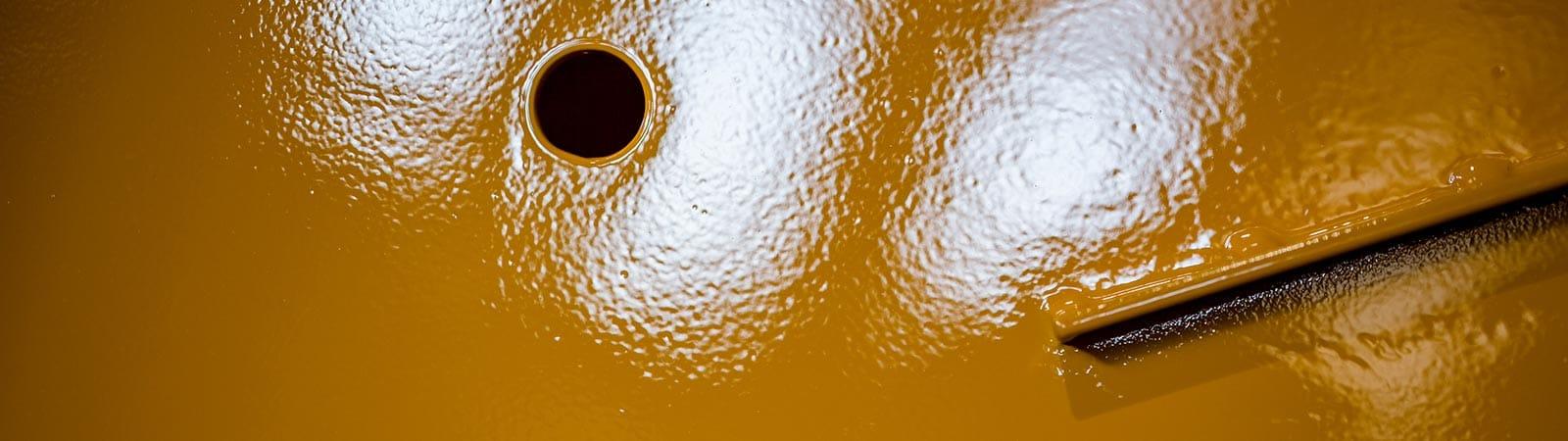 Pulverbeschichtung, Nasslackierte Oberflächen